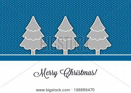 Christmas card with christmas trees vector EPS 8