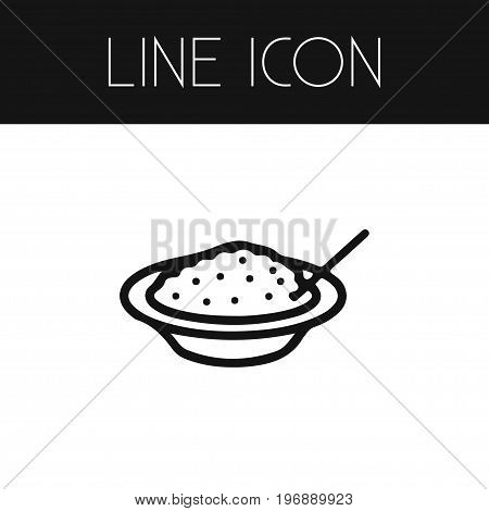 Porridge Vector Element Can Be Used For Porridge, Cereal, Eating Design Concept.  Isolated Cereal Outline.