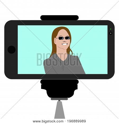 Abstract Selfie Illustration