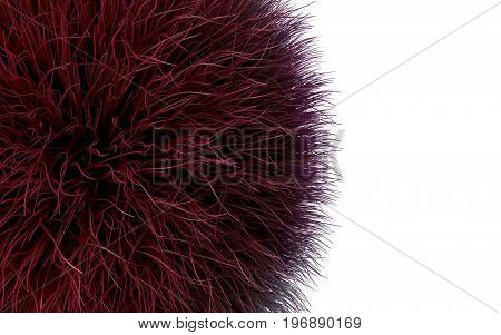 Fur Isolated Over The White Background