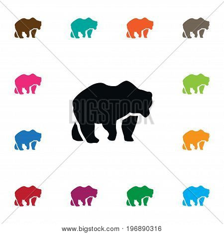 Bear Vector Element Can Be Used For Bear, Panda, Animal Design Concept.  Isolated Polar Icon.