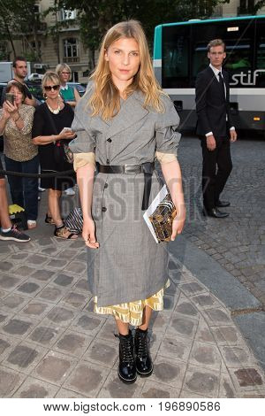 PARIS, FRANCE - JULY 04:  Actress Clemence Poesy attends Vogue Foundation Dinner  as part of Paris Fashion Week  Haute Couture Fall/Winter 2017-2018 July 4, 2017  Paris, France