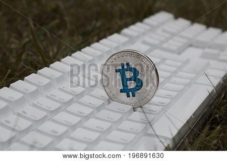 Blue Bitcoin Coin