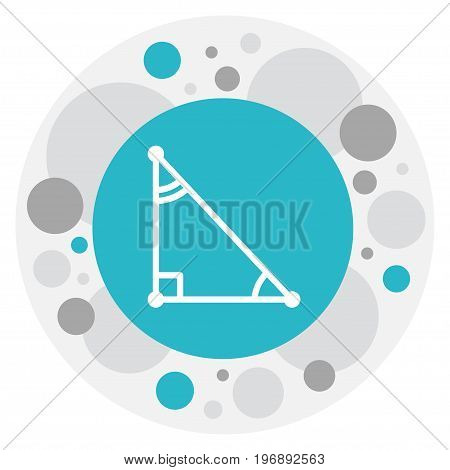 Vector Illustration Of Teach Symbol On Math Trigon Icon