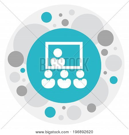 Vector Illustration Of Business Symbol On Presentation Icon