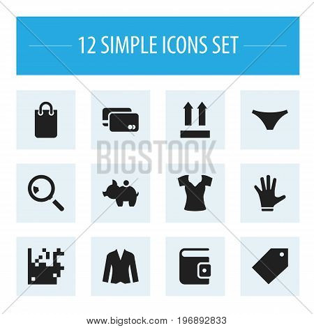 Set Of 12 Editable Trade Icons. Includes Symbols Such As Identification, Research, Direction And More