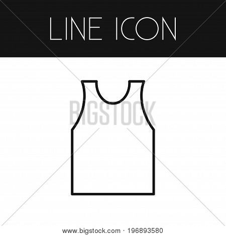 Shirt Vector Element Can Be Used For Shirt, Singlet, Banyan Design Concept.  Isolated Singlet Outline.