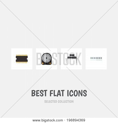 Flat Icon Appliance Set Of Hdd, Memory, Destination And Other Vector Objects