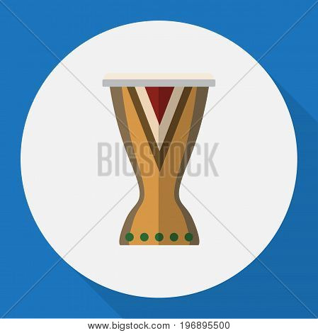 Vector Illustration Of Melody Symbol On Djembe Flat Icon