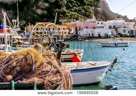 Fishing net, fisherman's life in the Mediterranean