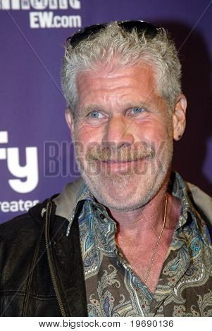 SAN DIEGO, CA - JULY 24: Ron Perlman arrives at the SyFy/EW party held July 24, 2010 at the Hotel Solamar in San Diego, CA.