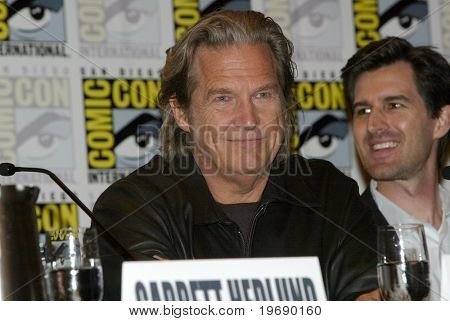 SAN DIEGO, CA - JULY 22: Jeff Bridges  answers questions at a press conference for