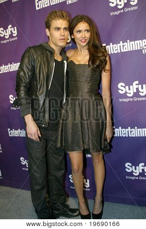SAN DIEGO, CA - JULY 24: Paul Wesley and Nina Dorbrev arrive at the SyFy/EW party held July 24, 2010 at the Hotel Solamar in San Diego, CA.