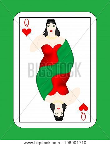 The beautiful card of the Queen of the Hearts.