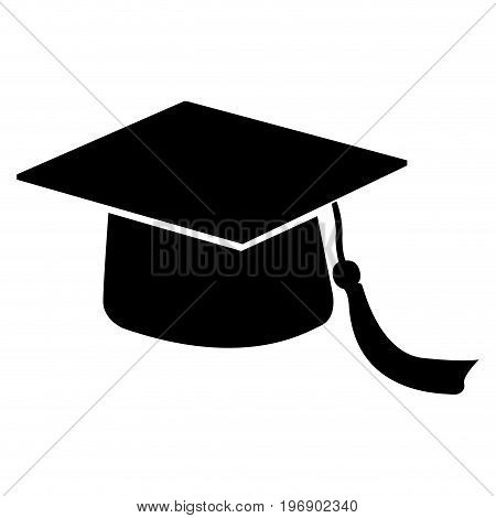 Isolated Mortarboard Silhouette