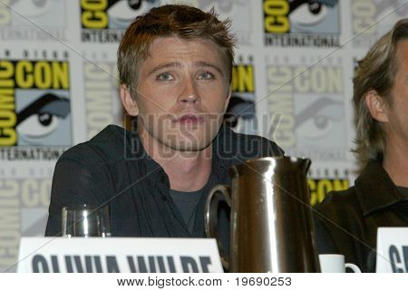 SAN DIEGO, CA - JULY 22: Garrett Hedlund answers questions at a press conference for