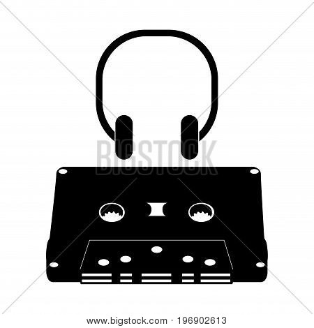 Isolated Cassette Silhouette