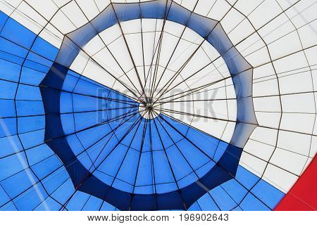 Abstract surface texture of a balloon close-up. Bright colors. Background for bright moments of life