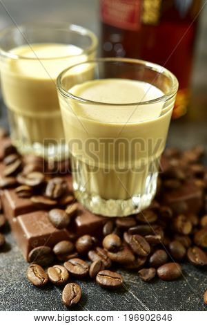 Homemade Chocolate Coffee Cream Liquor.