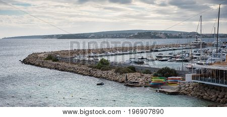 Panorama over the port of Portals Nous Mallorca