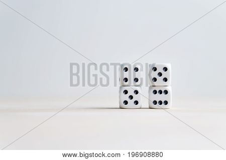 Nine eleven from dice numbers. 9-11 concept. Copy space for text.