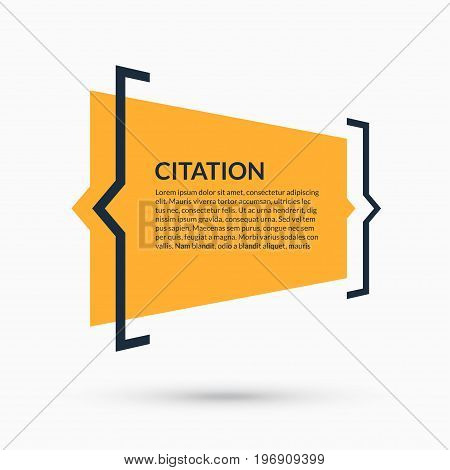 Quote speech bubble blank template text in brackets citation empty frame quote box