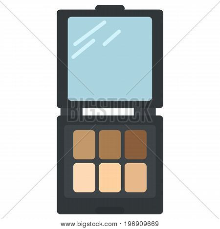Pastel light brown cream ocher eyeshadows icon, vector illustration flat style design isolated on white. Colorful graphics