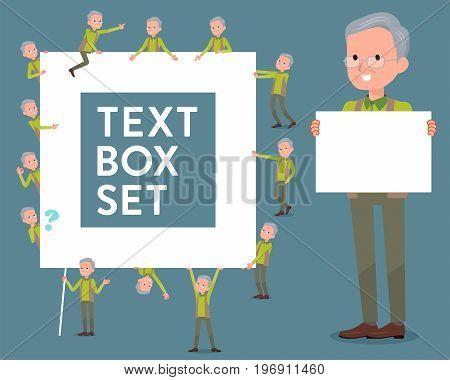 Flat Type Green Vest Grandfather_text Box