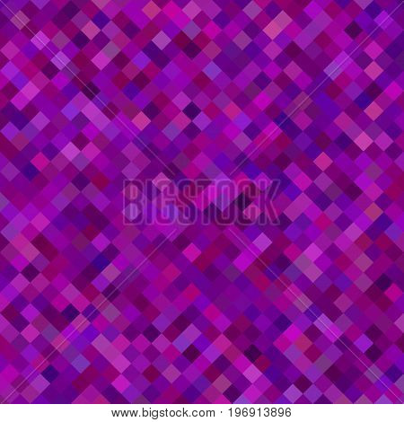 Abstract diagonal square pattern background - geometric vector illustration from squares in purple tones