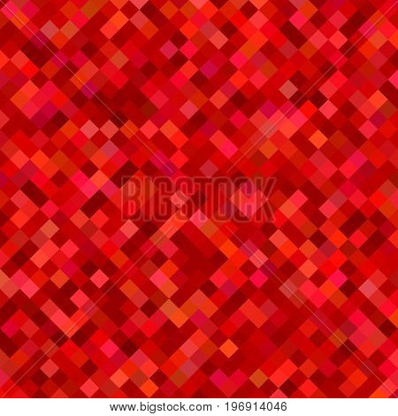 Color square pattern background - abstract geometrical vector graphic from diagonal squares in red tones
