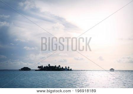 View of beautiful sea at tropical resort