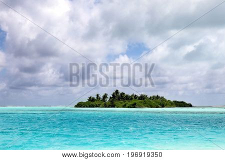 View of beautiful tropical resort on summer day