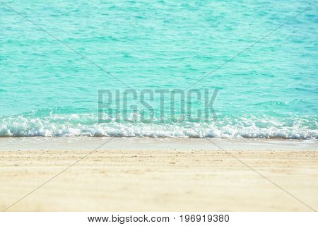 View of beautiful sea beach at resort