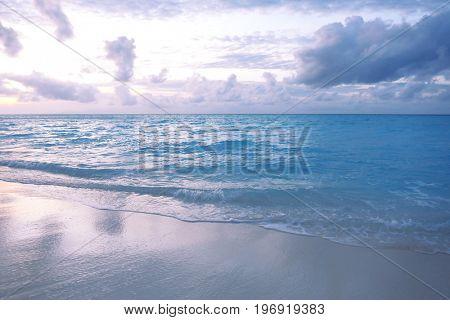 View of beautiful sea beach in evening