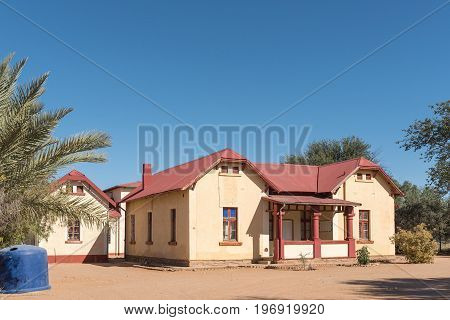 REHOBOTH NAMIBIA - JUNE 14 2017: The museum in the old postmasters building which was built in 1903 in Rehoboth a town in the Hardap Region of Namibia