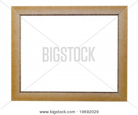 High Quality Modern Style Golden Ornament Frame Isolated On White