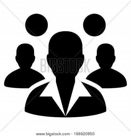 Staff vector pictograph. Style is flat graphic symbol, black color, white background.