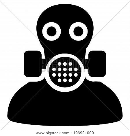 Toxic Work vector pictograph. Style is flat graphic symbol, black color, white background.