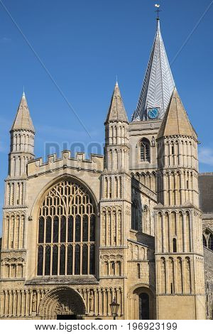 The magnificent Rochester Cathedral in Kent UK.