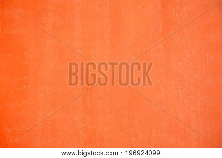 Orange painted wall texture with copy space your writing text of background.