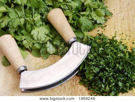 Mezzaluna And Herbs