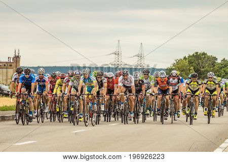 BELGOROD RUSSIA - JULY 23 2017: Open Championship of Russia in cycling-highway.