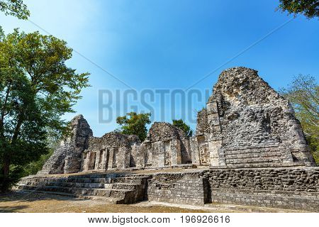 Beautiful Mayan Temple In Chicanna, Mexico