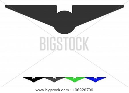 Aviation flat vector pictogram. Aviation icon with gray, black, blue, green color versions.