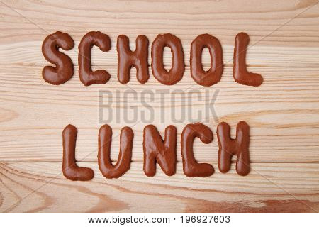 School Lunch Written By Chocolate Cookies Alphabet