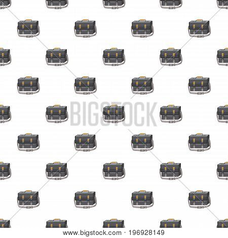 Bag for camera pattern seamless repeat in cartoon style vector illustration