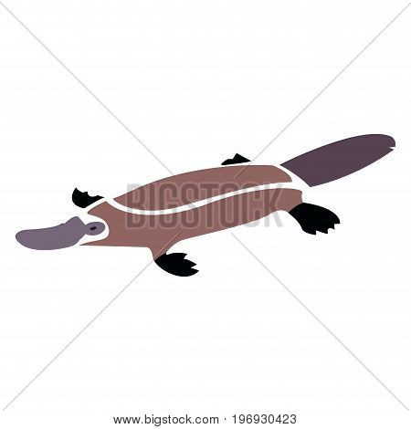 Isolated abstract platypus on a white background, Vector illustration