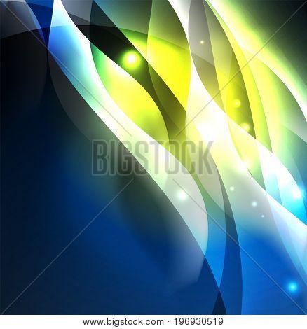 abstract illuminated neon waves