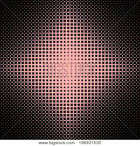 Abstract symmetrical halftone ellipse grid pattern background - vector graphic from ellipses in varying sizes