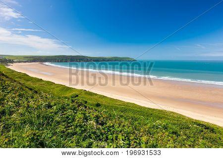 Putsborough Sands From Woolacombe Warren Devon England